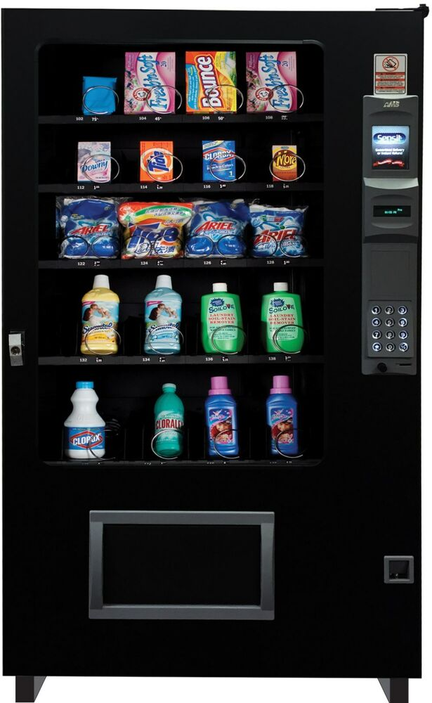 Laundry Soap Dispensing Glass Front Vending Machine 4 Wide