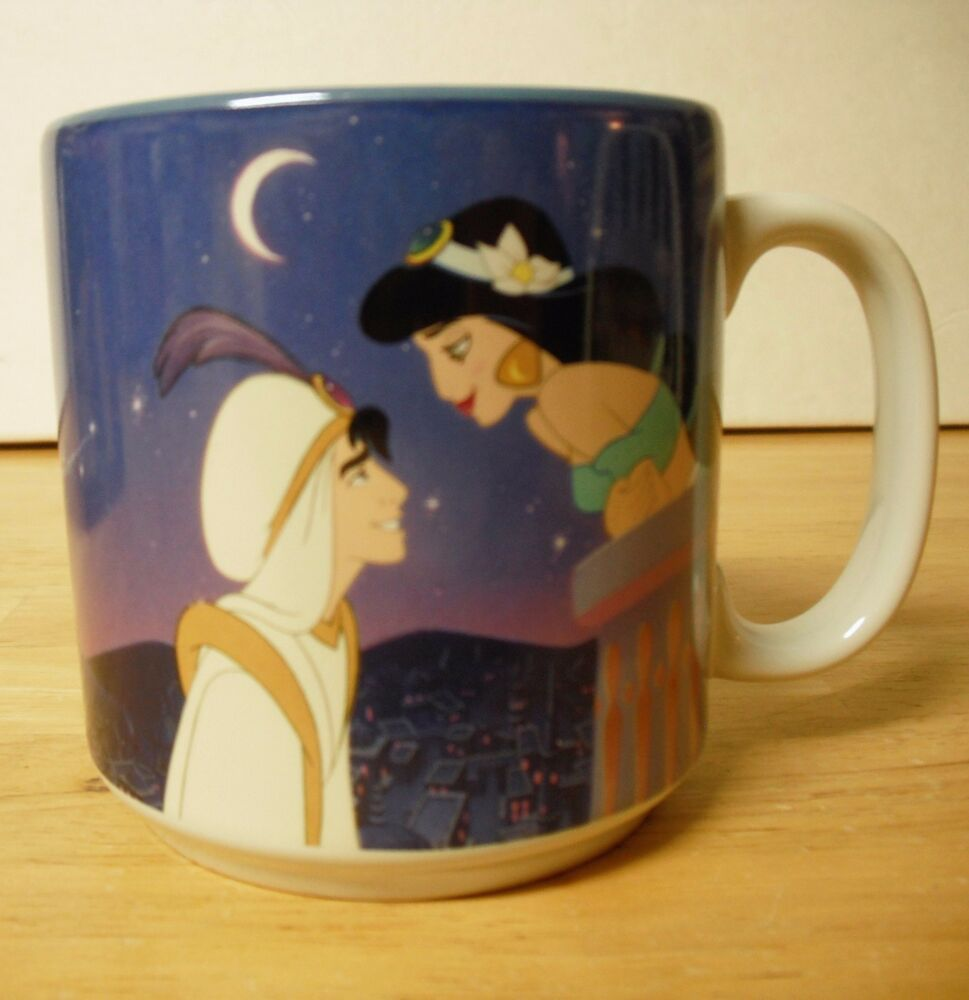 Disney 39 s aladdin coffee mug ceramic 12 oz with box ebay - Walle and eve mugs ...