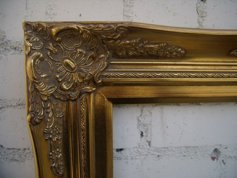 Wide ornate gold traditional decorative victorian picture for 16x20 frame