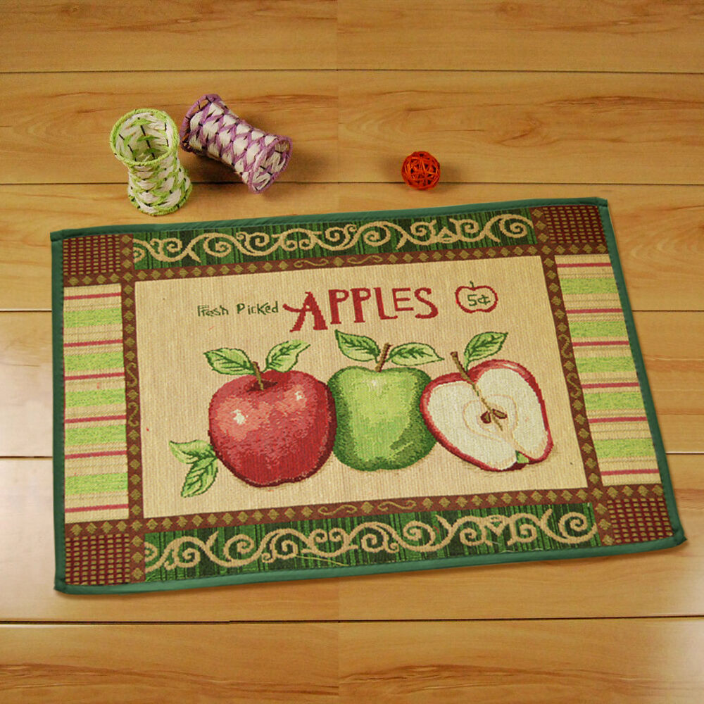 Vintage Apple Kitchen Area Rug Floor Carpet Mat Indoor