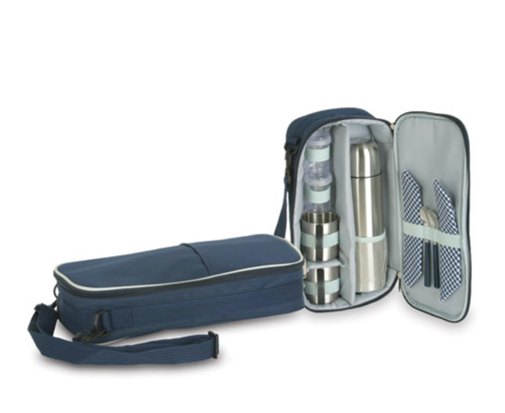 Picnic Coffee Travel Bag Set For Two 2 Stainless Steel