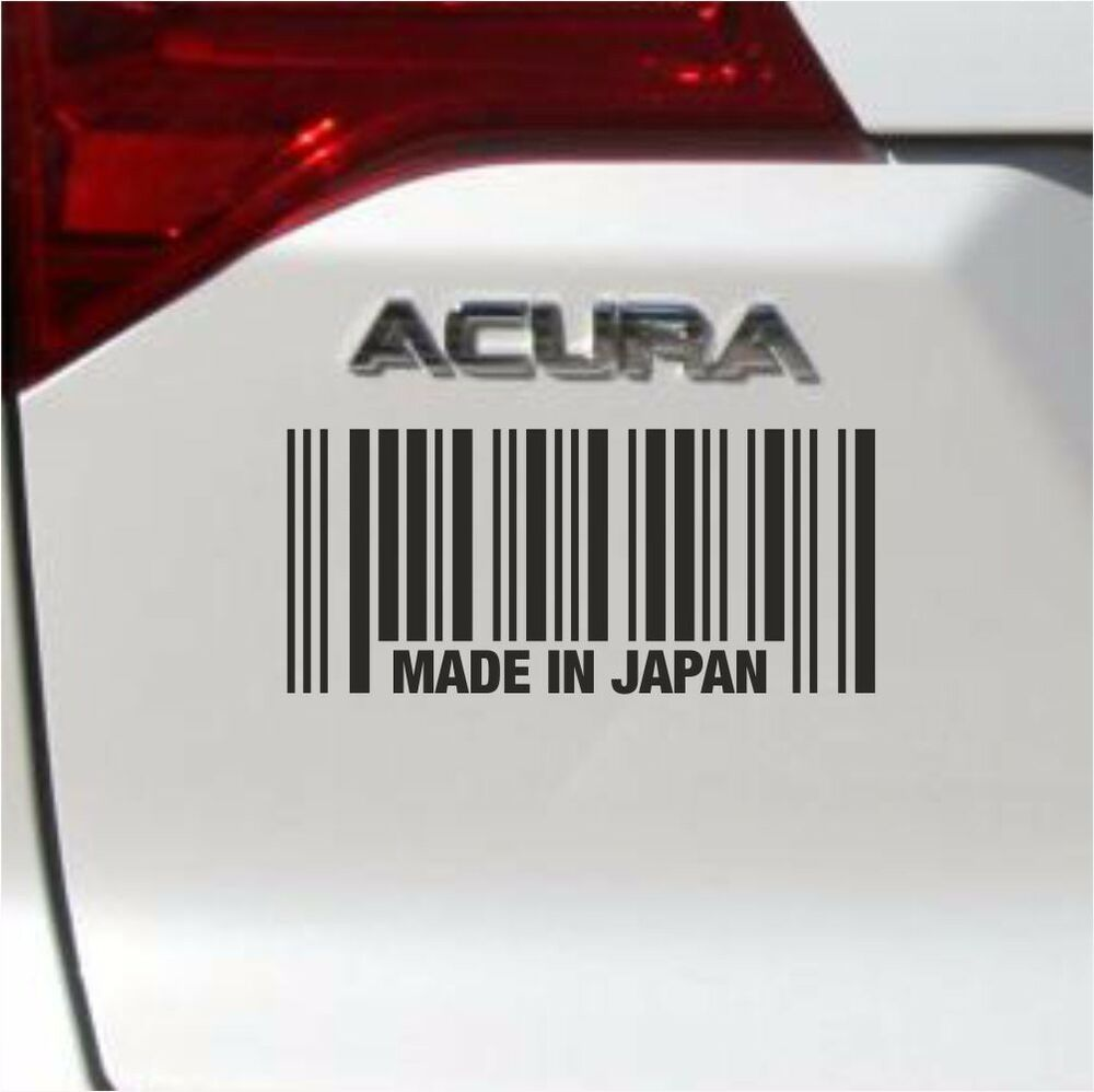 MADE IN JAPAN BARCODE DECAL STICKER ACURA HONDA TOYOTA CAR