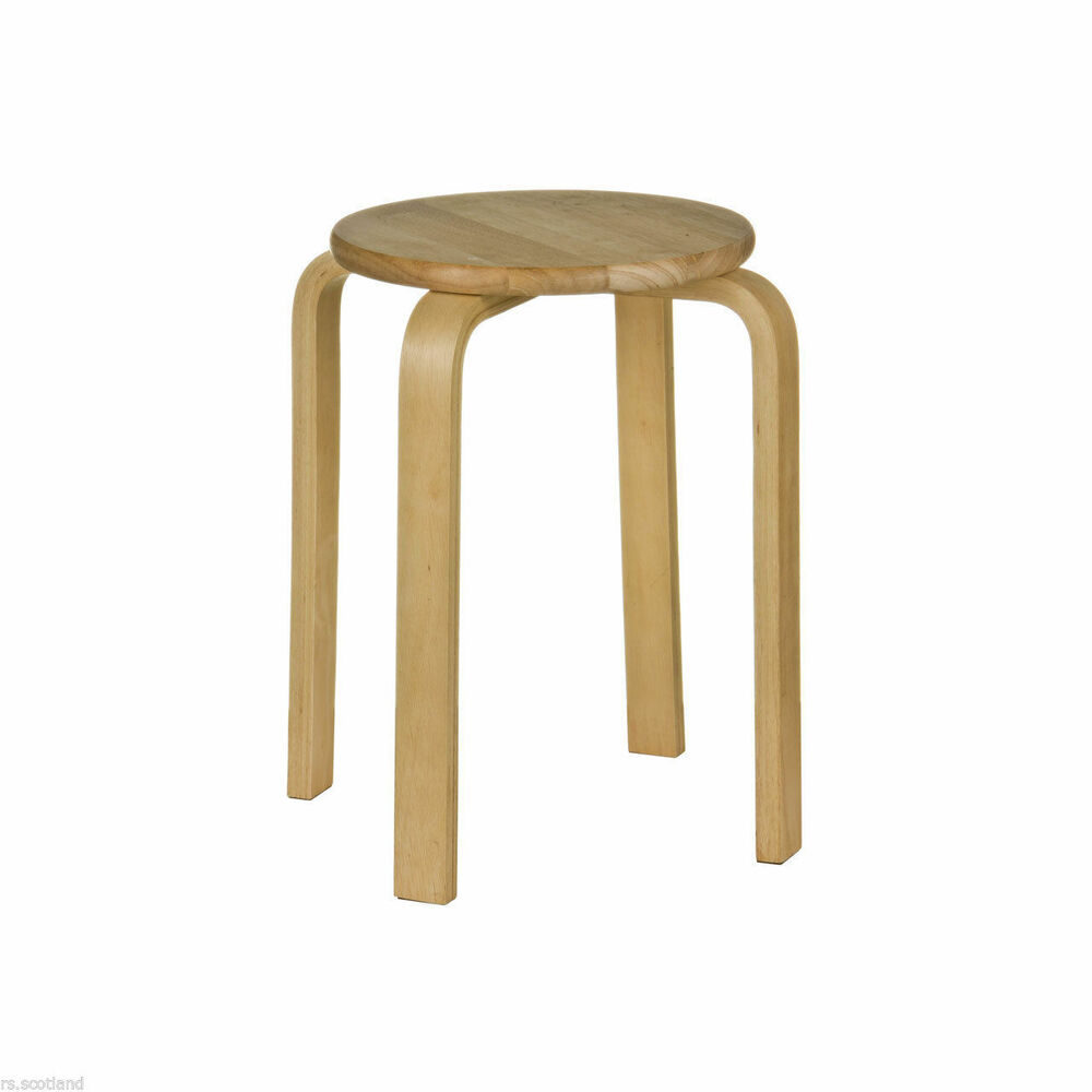 Stacking Stool Tropical Hevea Wood Home Office Modern