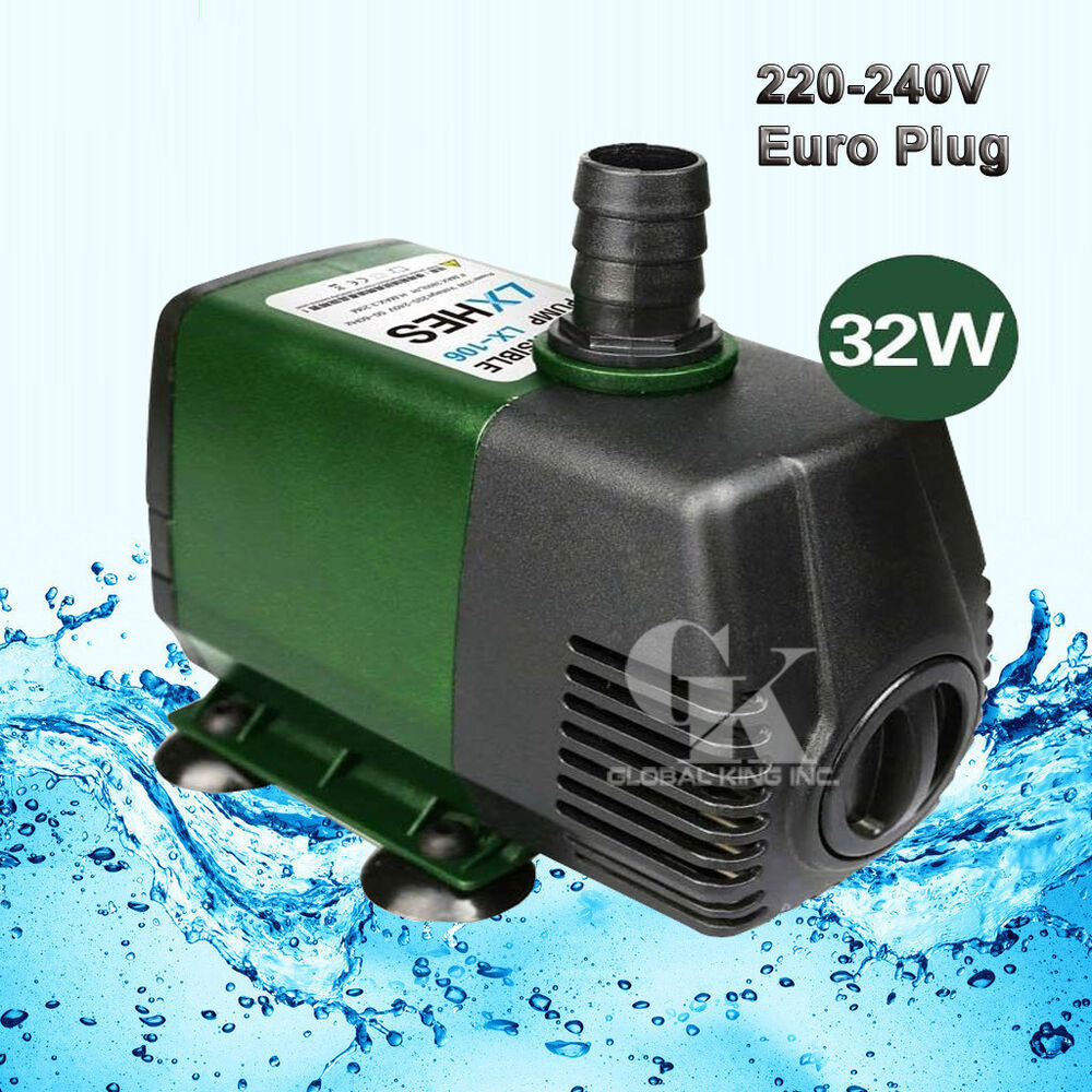 220v 2800l h submersible pump aquarium fish tank fountain for Fish water pump