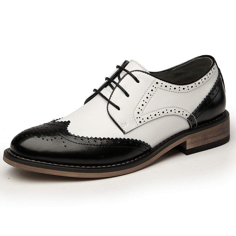 US6-9 Men Leather Lace Up Dress Shoes Two Tone Wingtip Oxford Fashion Sneakers | EBay