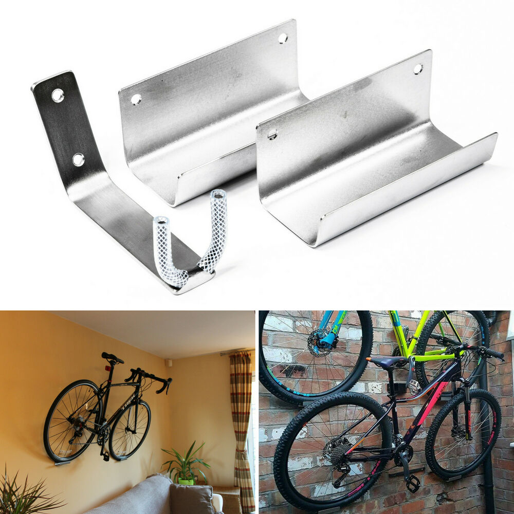 BIKE PEDAL HOOK WALL MOUNTED BRACKET HANGER WHEEL HOLDER