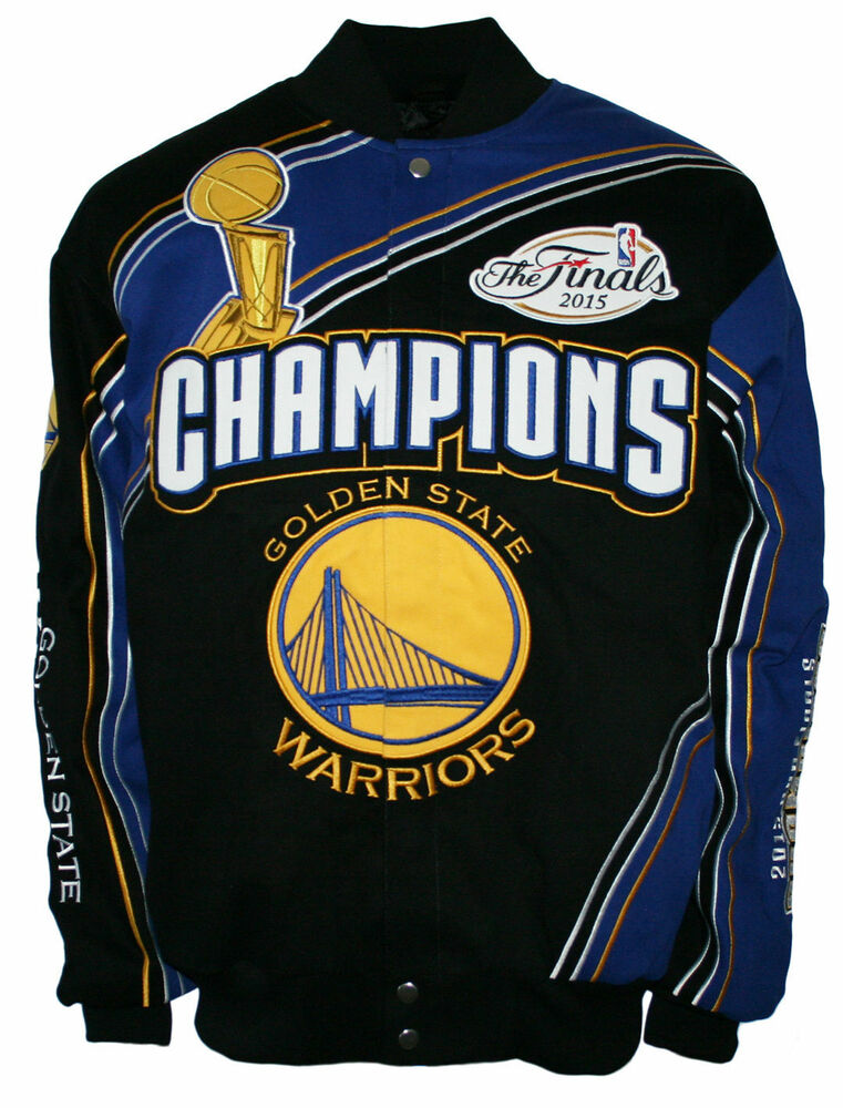 NBA Men's Golden State Warriors 2015 Champions Button up Twill Cotton Jacket | eBay