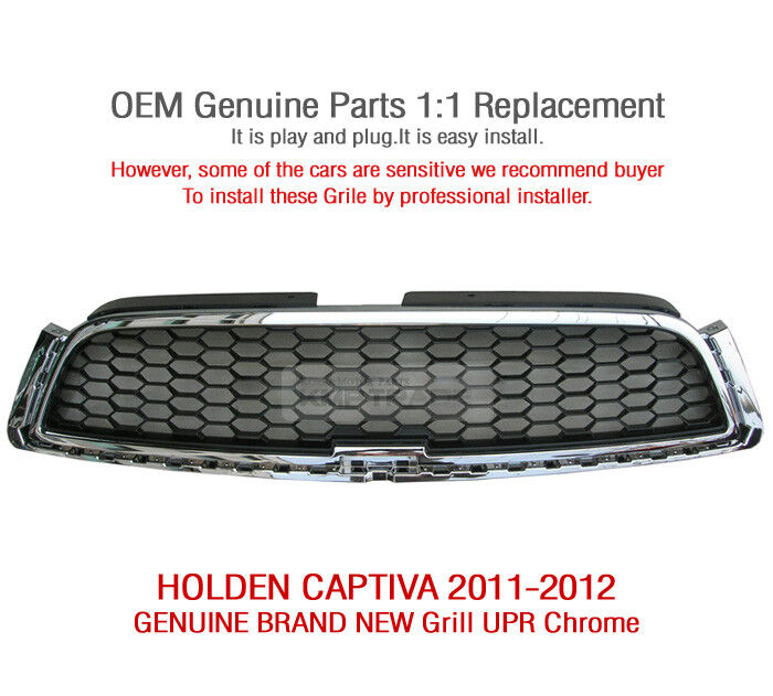 2012 Chevy Captiva Accessories: OEM Genuine Parts Front Grille UPR Chrome 1Pcs For