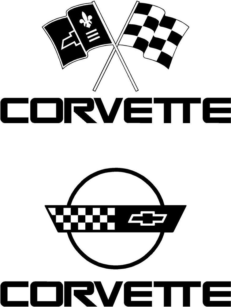 corvette decals   choose style size  u0026 color   free usa s  h