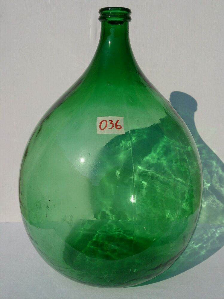 Antique italian green demijohn huge carboy wine making for Green italy