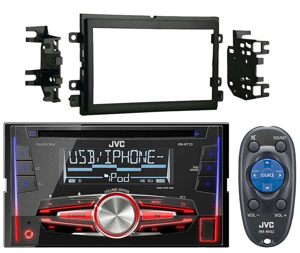 double 2 din car stereo radio dash kit trim jvc car usb cd indash radio stereo ebay. Black Bedroom Furniture Sets. Home Design Ideas