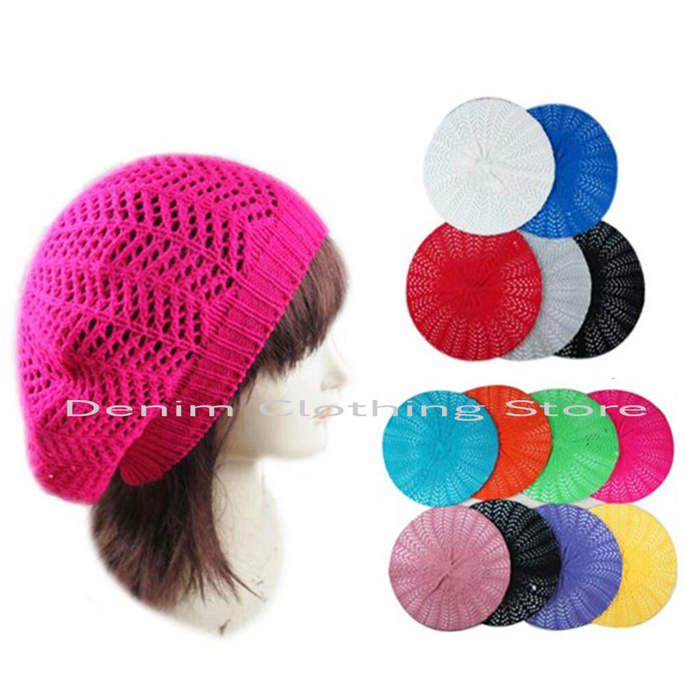 Women Summer Spring Winter Crochet Knit Slouchy Beanie ...