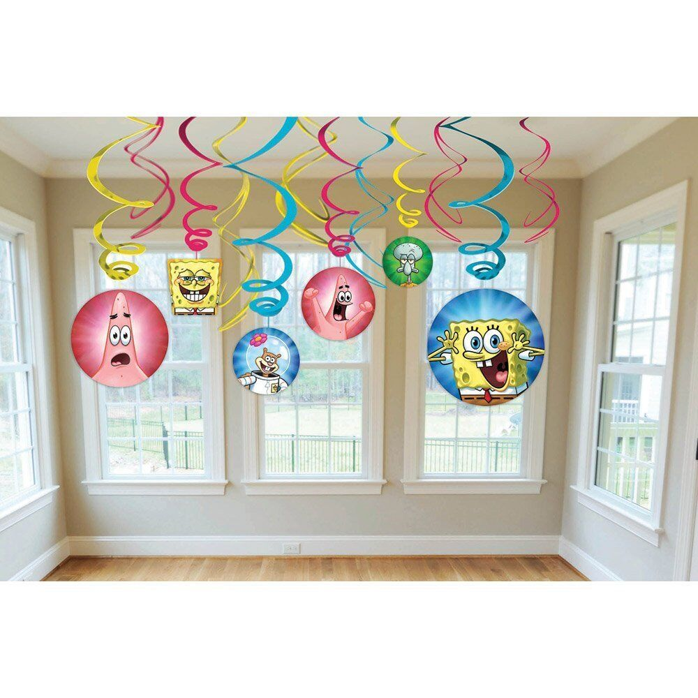 Spongebob squarepants swirl decorations for birthday party for Decoration stuff