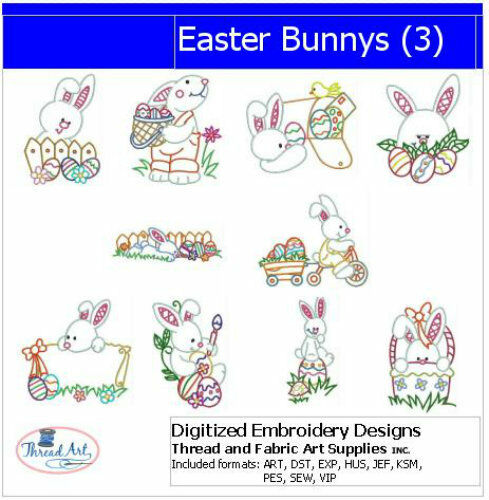 Embroidery design cd easter bunny designs