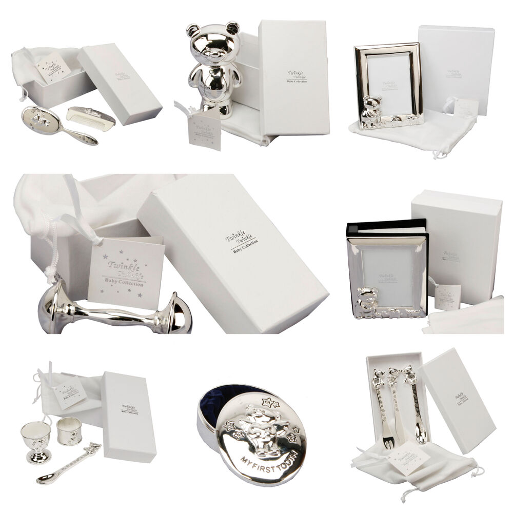 Silver Plated Baby Gifts Australia : Personalised silver plated christening gifts gift for