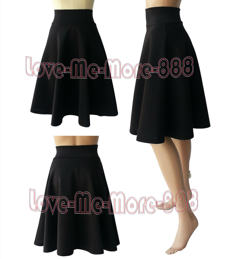 womens plain high waisted wear to work casual a line