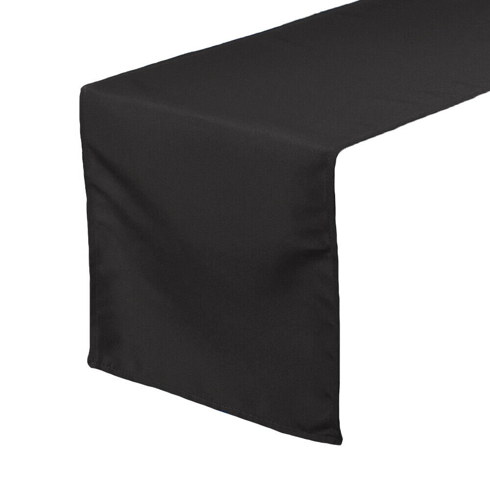 14 x 108 inch polyester table runners black ebay for 108 table runner