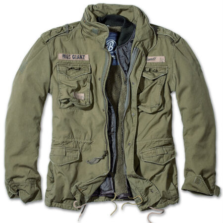 img-BRANDIT M65 GIANT MENS MILITARY PARKA US ARMY JACKET WINTER ZIP OUT LINER OLIVE