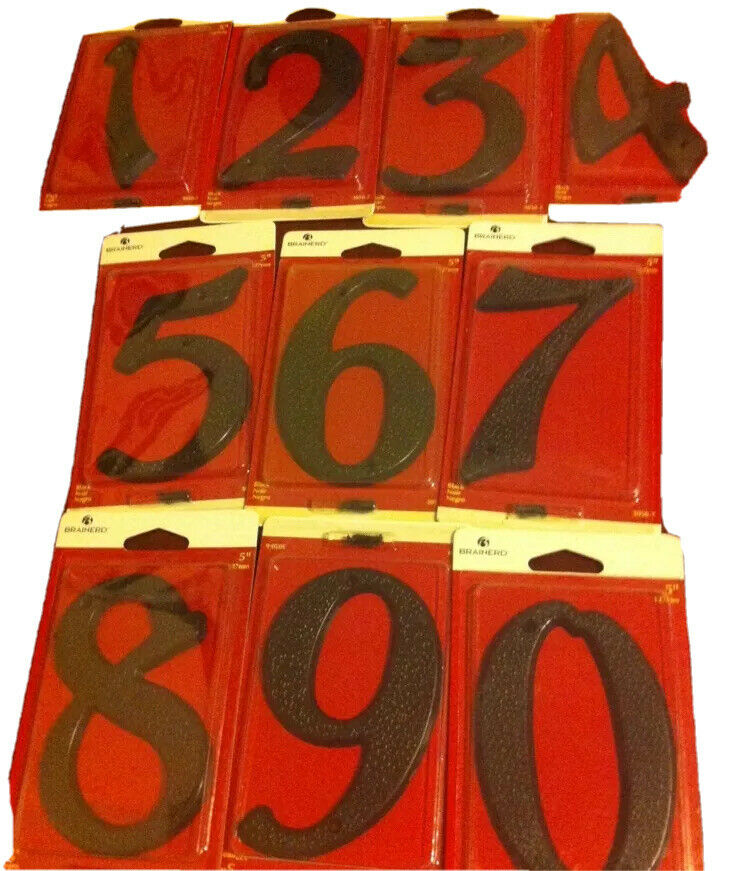 Any number brainerd black 5quot plastic house address for Plastic house letters