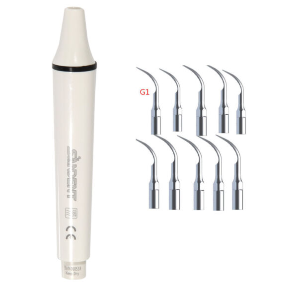 Manipolo Ablatore Dentista Ultrasonic Scaler Handpiece +10 Tips EMS Woodpecker