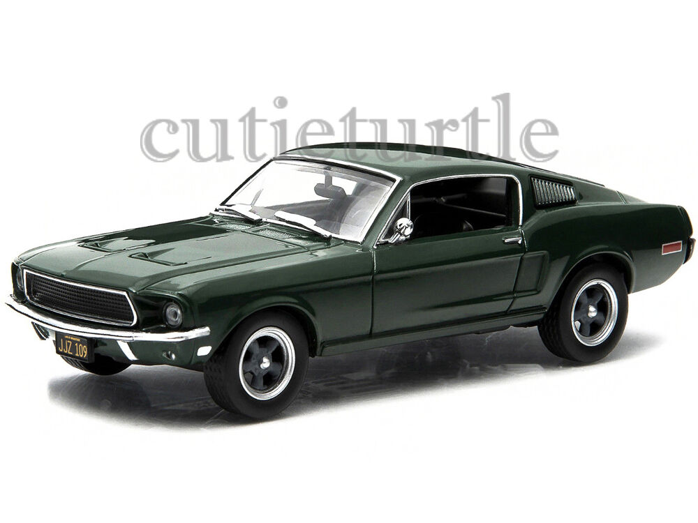 greenlight steve mcqueen bullitt movie 1968 ford mustang gt fastback 1 43 86431 ebay. Black Bedroom Furniture Sets. Home Design Ideas