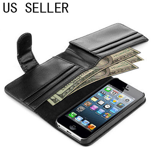 iphone 5 wallet card holder flip wallet cover for apple iphone 5s 11061