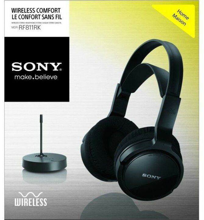 Sony MDR-RF811RK Wireless Rechargeable Stereo Headphones ...