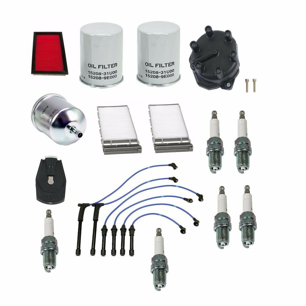Air Oil Fuel Filter Tune Up Kit For Nissan Frontier Xterra 00 04 2011 Vg33e Engine Ebay