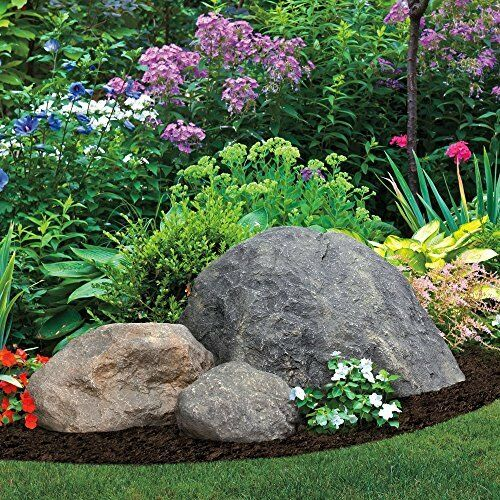 Landscaping faux rock large tan outdoor yard landscape for Rock stepping stones landscaping