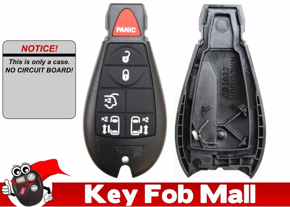 new 6btn keyless entry key fob remote case only for 2010 chrysler town country ebay. Black Bedroom Furniture Sets. Home Design Ideas