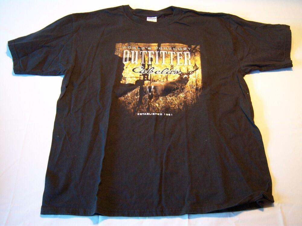 Gildan worlds foremost outfitter cabela 39 s t shirt men 39 s for Cabela s fishing shirts