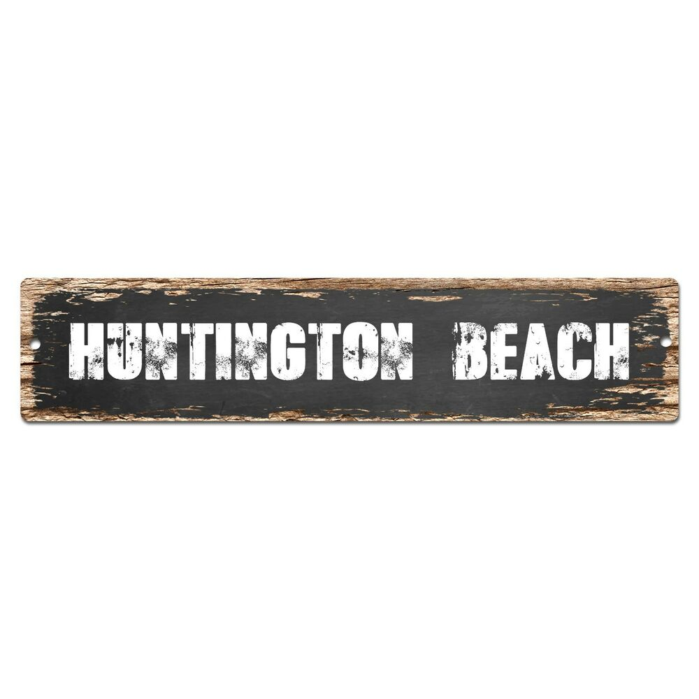 Huntington Beach Wall Decor : Sp huntington beach chic street sign bar store