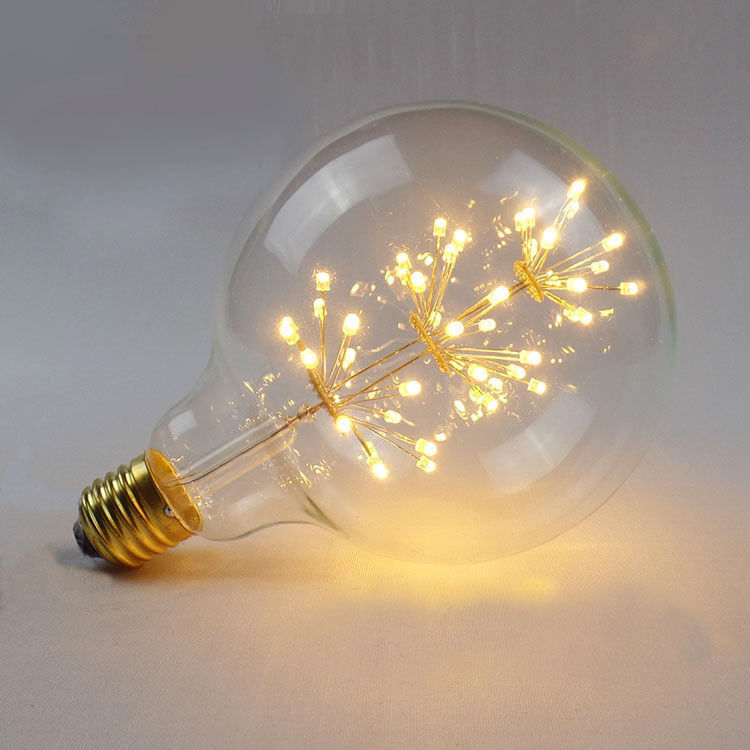 Large Fireworks Led Light E27 Edison Vintage Filament Bulb Style Lamp Decorative Ebay