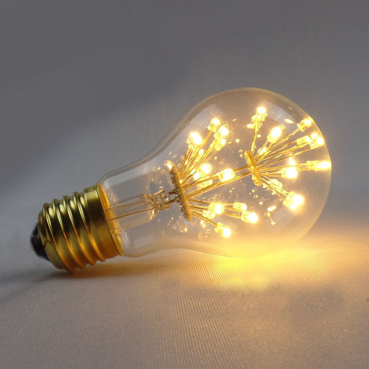 A19 fireworks led light e27 edison vintage flower bulb lamp decorative cafe star ebay Light bulb lamps