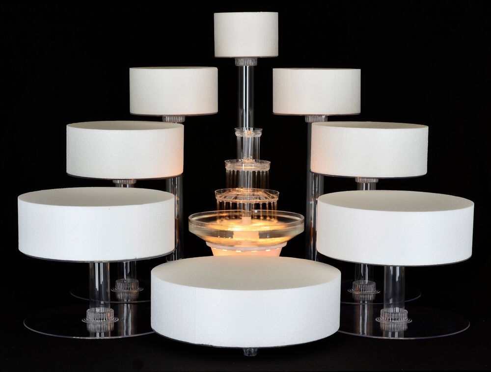 8 tier cascade wedding cake stand cupcake stand with fountain style r801 ebay. Black Bedroom Furniture Sets. Home Design Ideas