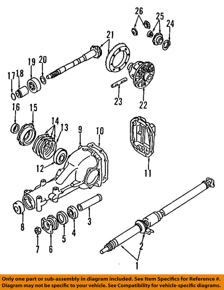 details about subaru oem 90-14 legacy rear differential-side seals 806732200