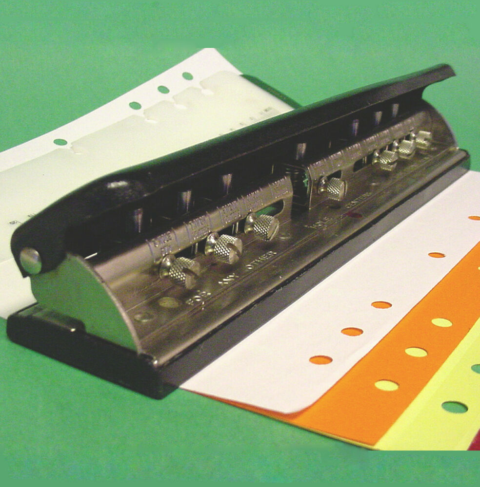 ACCO MUTUAL Adjustable 3 5 7 Hole PAPER PUNCH Organizer
