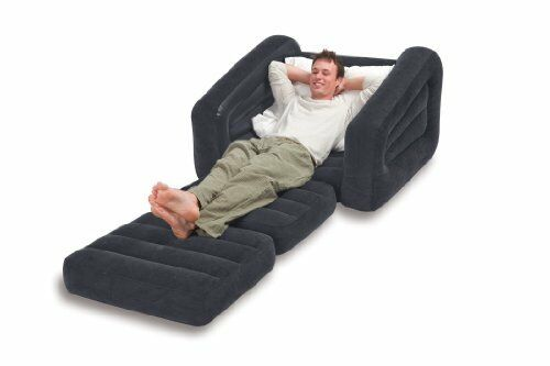 Inflatable Pull Out Sofa Chair Bed Sleeper Dorm Camping Rv