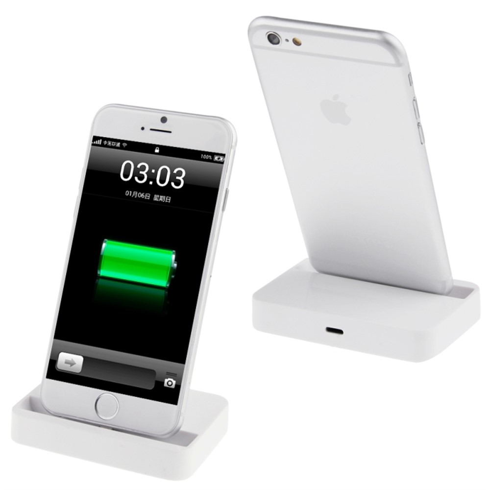 new desktop charging dock stand charger for apple iphone 7 6s 6 plus white ebay. Black Bedroom Furniture Sets. Home Design Ideas