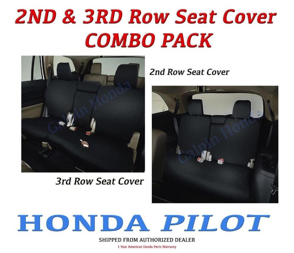 genuine oem honda pilot 2nd 3rd row seat covers for lx ex models 2016 ebay. Black Bedroom Furniture Sets. Home Design Ideas