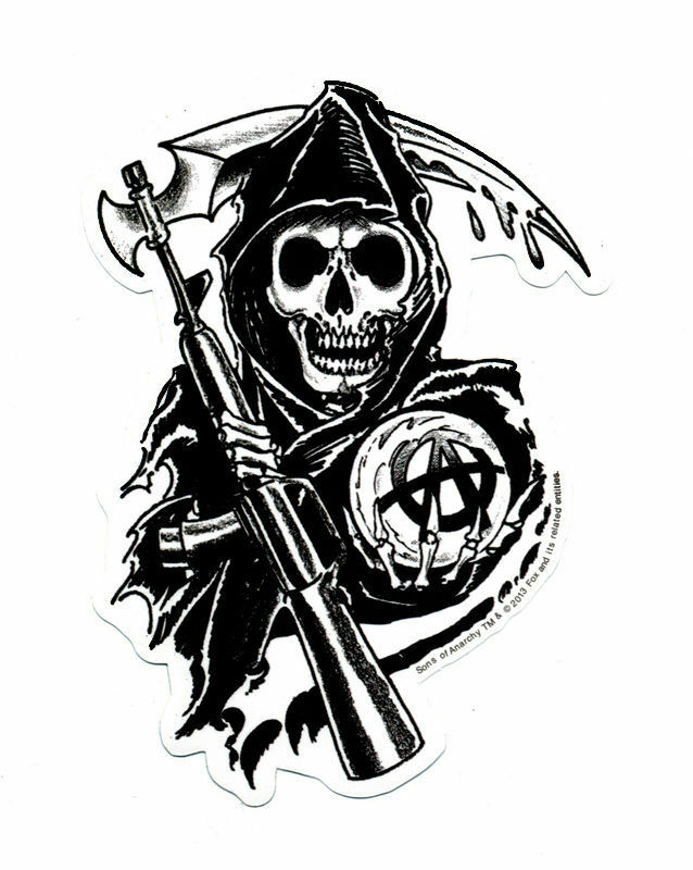 Sons Of Anarchy Soa Logo Sticker Reaper 3 Quot X4 Quot 661304977377
