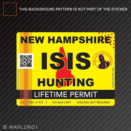 Isis terrorist new hampshire state hunting permit sticker for New hampshire fishing license