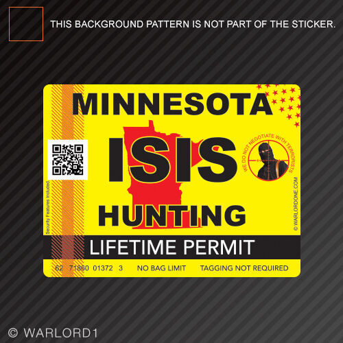 Isis terrorist minnesota state hunting permit sticker for How much is a minnesota fishing license