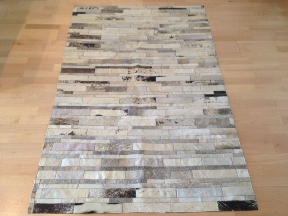 New Cowhide Rug Patchwork Leather Carpet Ebay