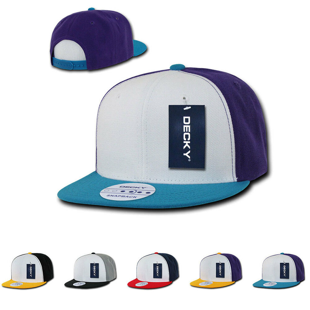 Details about 1 Dozen DECKY 3 Tone Flat Bill 6 Panel Snapback Cap Caps Hat  Hats Wholesale Bulk 134709dc587