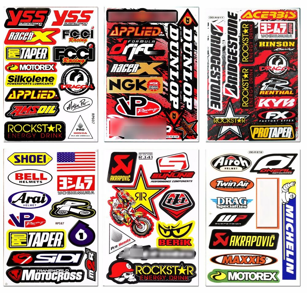 stickers for motorcycle quad bike motocross helmet car truck atv mtb bmx 3 613583926546 ebay. Black Bedroom Furniture Sets. Home Design Ideas