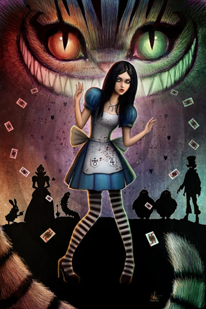 Alice In Wonderland Cheshire Cat Evil Scary Kitten Diy