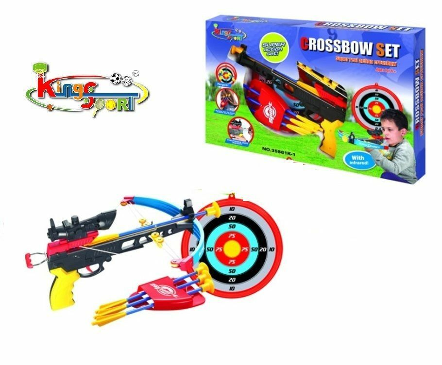 Target Toys For Boys : Cross bow arrow archery set target boys outdoor garden