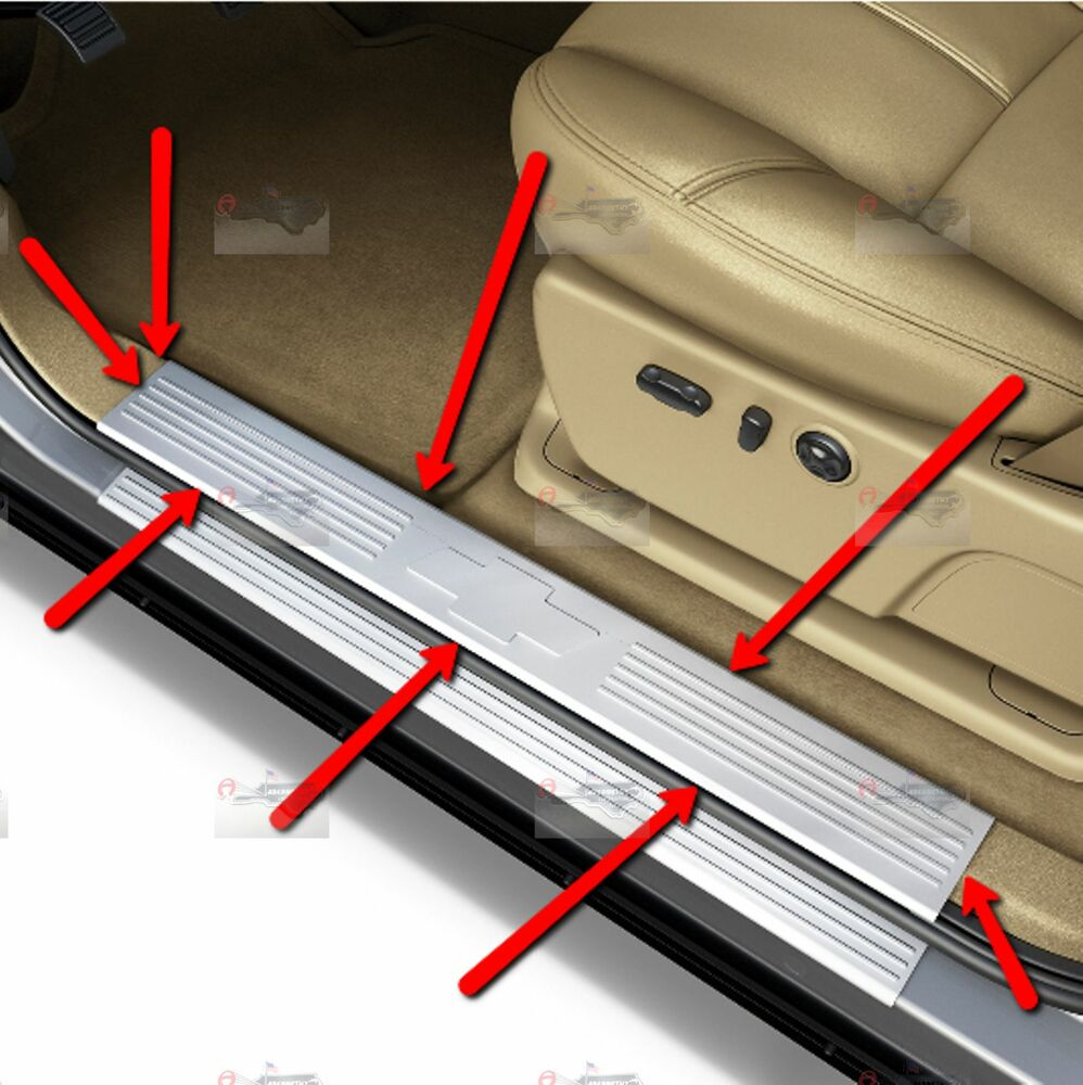 17802520 Gm Stainless Door Sill Plates For Crew Cab