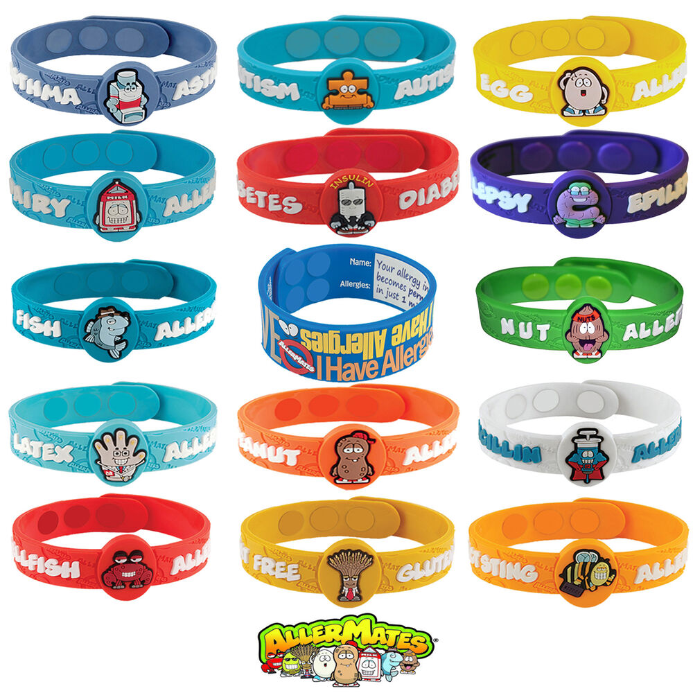 Allermates Health Alert Allergy Medical Wristbands Kids